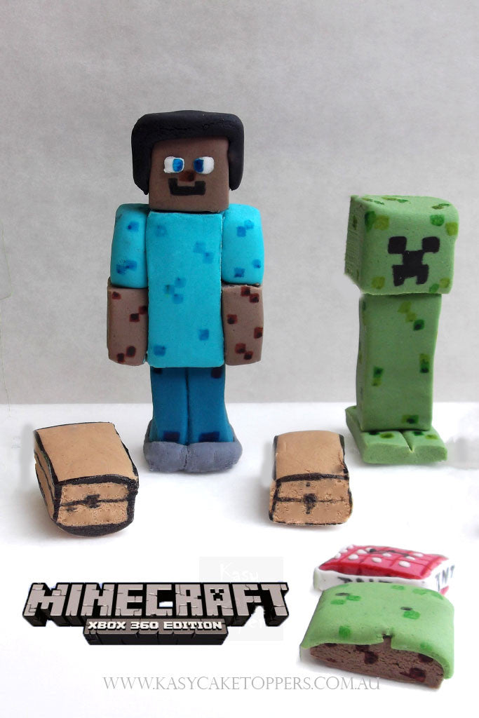 Edible Minecraft Cake Toppers Perth