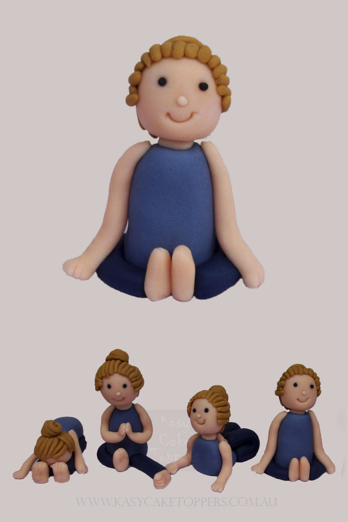 Yoga Girls Fondant Cake Toppers Kasy Cake Toppers