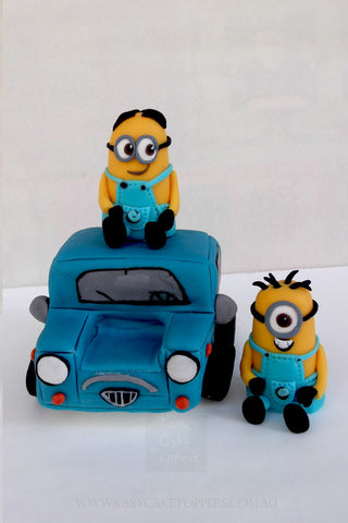 Lucy Wilde, Minions and Lucy's Blue Car Cake Toppers