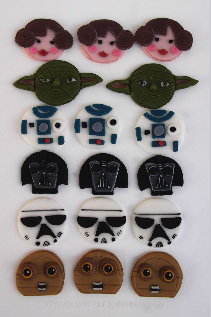 Star Wars Edible Cupcake Toppers Kasy Cake Toppers
