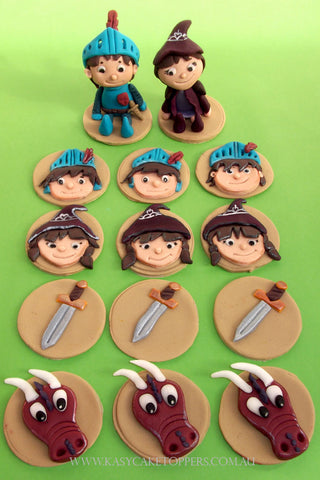 Mike The Knight Cupcake Toppers