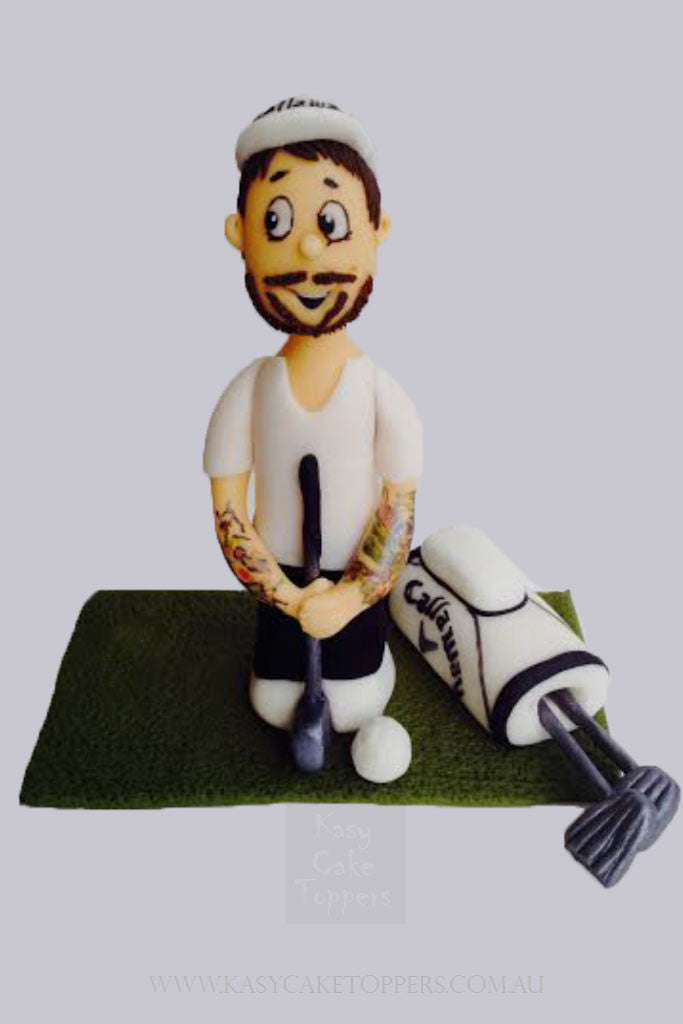 Golf Man Theme Cake Topper