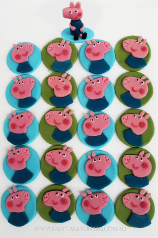 Peppa Pig George Cup Cake Toppers