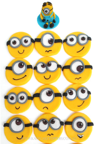 Mini Minion Cup Cake Toppers