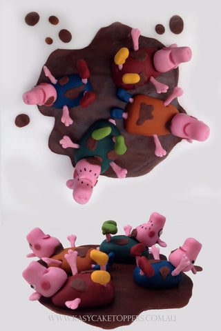 Peppa Pig's Family Dance Edible Cake Toppers