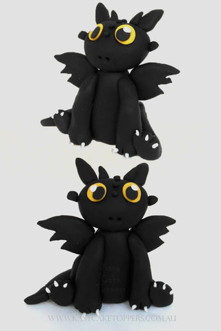 Toothless Dragon Edible Cake Topper