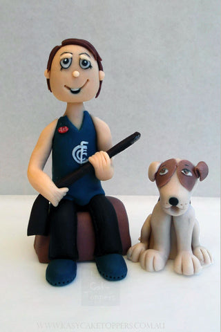 Recreational Hunting Man & Dog Cake Toppers