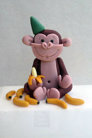 Monkey Loves Banana Cake Topper