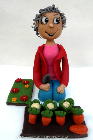 Gardening Granny Cake Toppers Cake Toppers