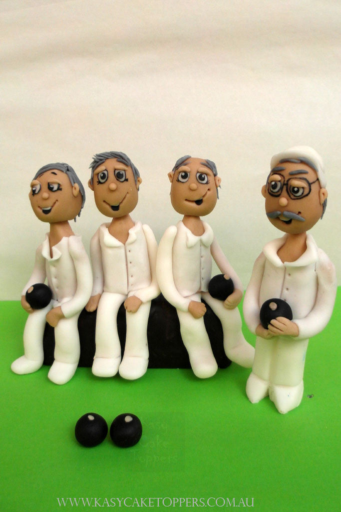 Go Lawn Bowl Cake Toppers Figurings