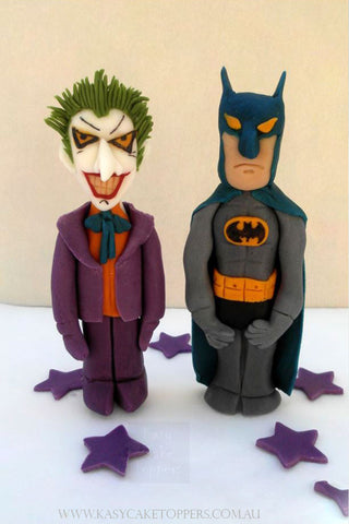 Joker and Batman Edible Cake Toppers