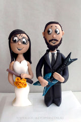 Rock Start Wedding Cake Toppers Figurines