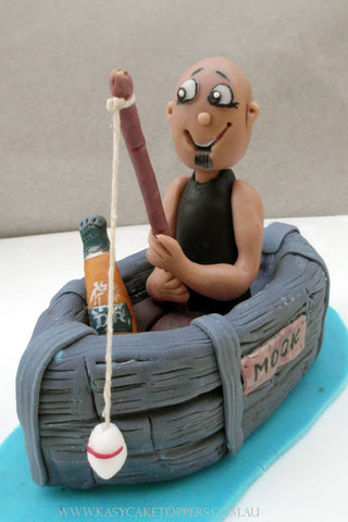 Gone Fishing Birthday Cake Topper