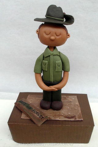Anzac Day Custom Cake Topper