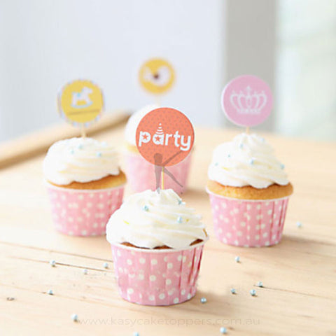 Party Theme Cupcake Picks/Toppers