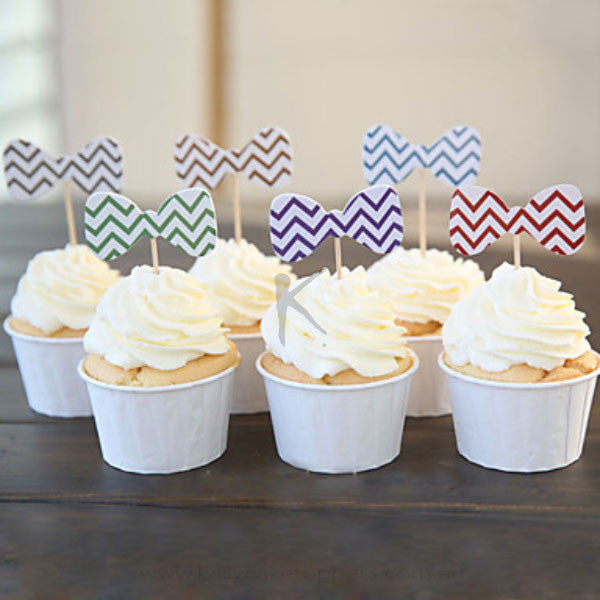 Bow Tie Cupcake Picks/Toppers