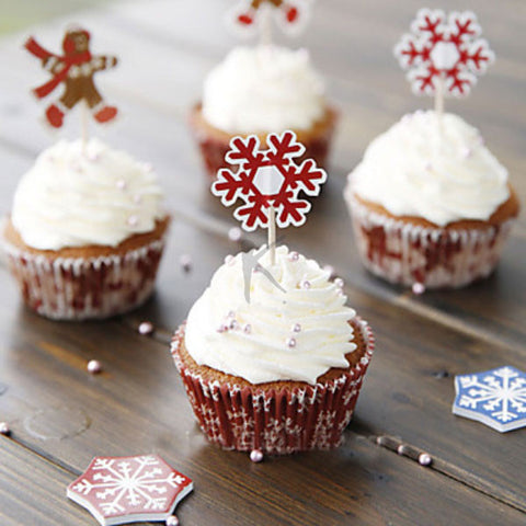 Snowflake&Boy Oiled Paper Cupcake Wrappers for Christmas