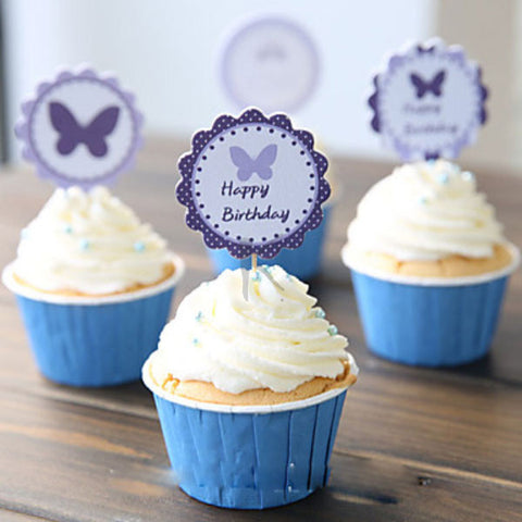 Buttlerfly Cupcake Picks/Toppers