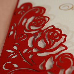 Floral Cut-out Wedding Invitation