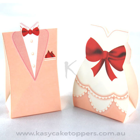 Bride and Groom wedding favor box 100pcs