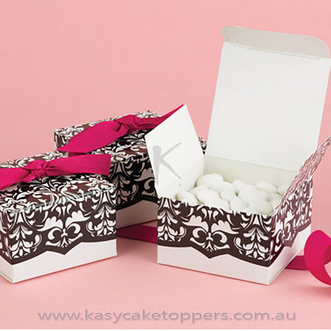 Hot Damask Wedding Candy Box 50pcs