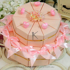 Pink Heart Cake Favor Box