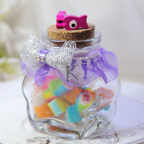 Sweet Candy Jar With Little Fish - Set of 6
