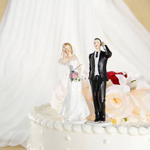 Romantic Bride & Groom Wedding Cake Topper