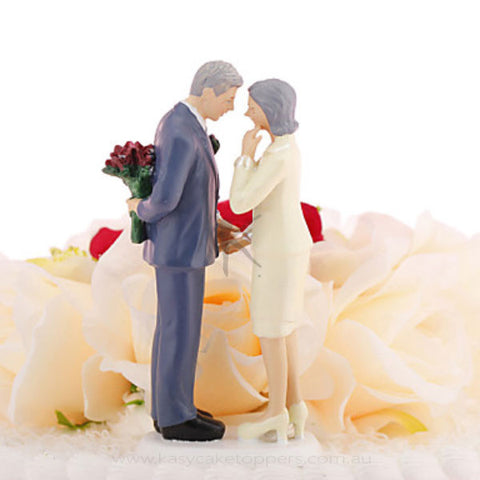 50th Annivesary Wedding Cake Topper