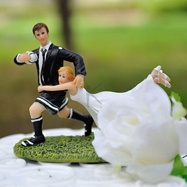 rugby couple wedding cake topper quot carry me with you quot athletic figurine wedding cake topper 19463