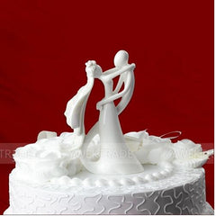 Fashion Cute originality Wedding cake toppers ceramics bridegroom and bride for Wedding Decorations 2015 new style ZS369