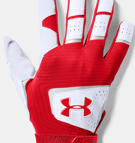 Under Armour Men's Clean Up Batting Glove Red