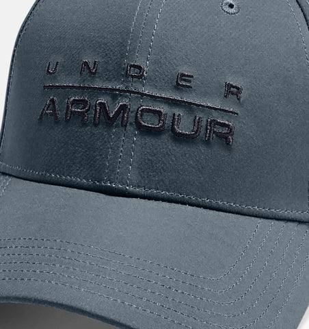 Under Armour Word Mark Stretch Fit Cap Grey