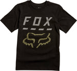 Fox Highway Youth Boys Black Short Sleeve T-Shirt Front