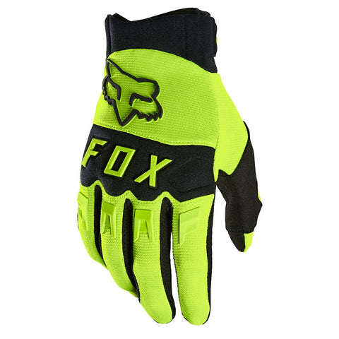 Fox Youth Dirtpaw Race Gloves Yellow
