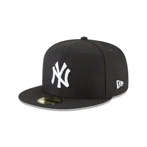 New Era New York Yankees Black and White Basic 59Fifty Fitted (New York B/W)