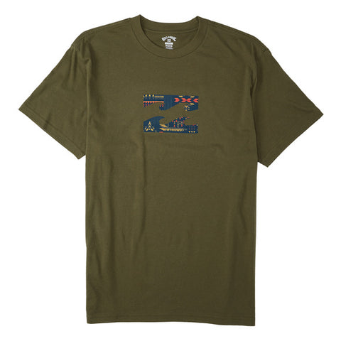 Billabong Team Wave Men's T-Shirt Olive