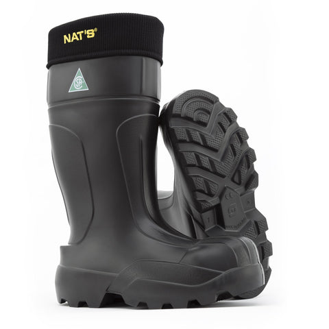 Nats EVA Safety Boot With Liner Black CSA approved Black