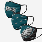FOCO Philadelphia Eagles Gametime 3 Pack Face Cover