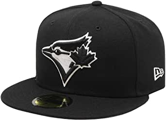 New Era Toronto Blue Jays Black and White Basic 59Fifty Fitted (TORJABW)