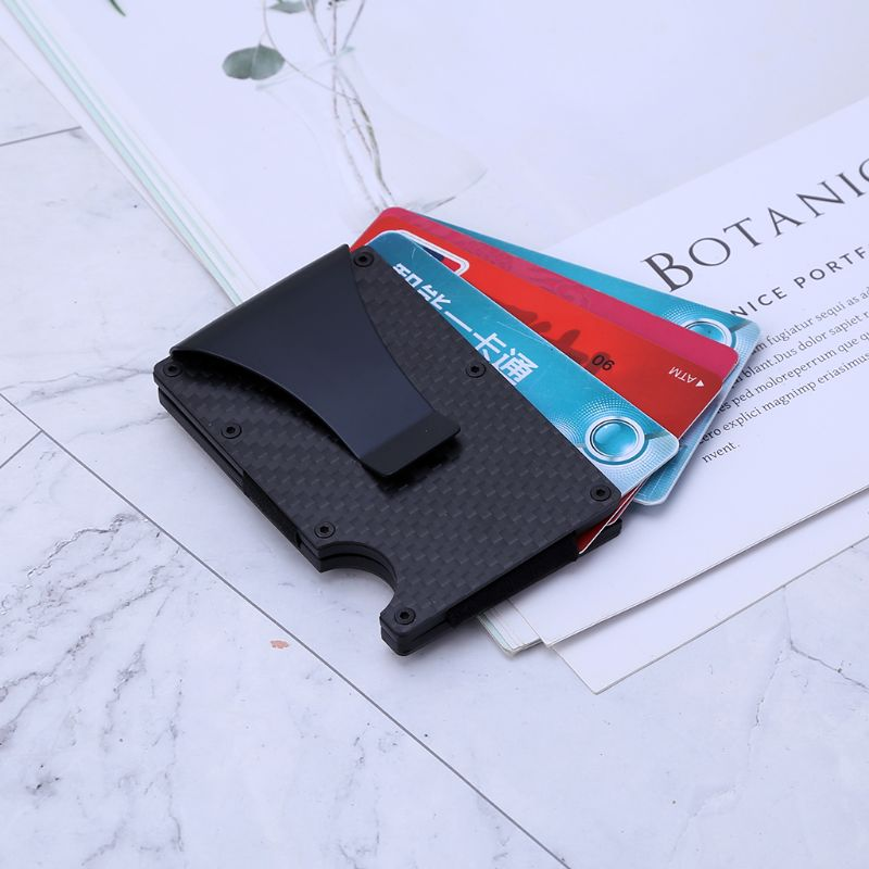 Card Holder Money Cash RFID Clip Men Wallet Portable Anti-theft Carbon Fibre Slim Business Travel 860mm*540mm