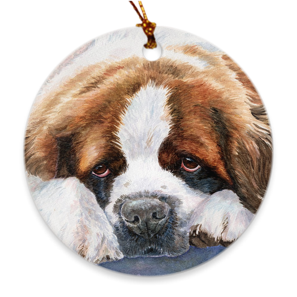 "Saint Bernard ""Watchman"" Ornament"