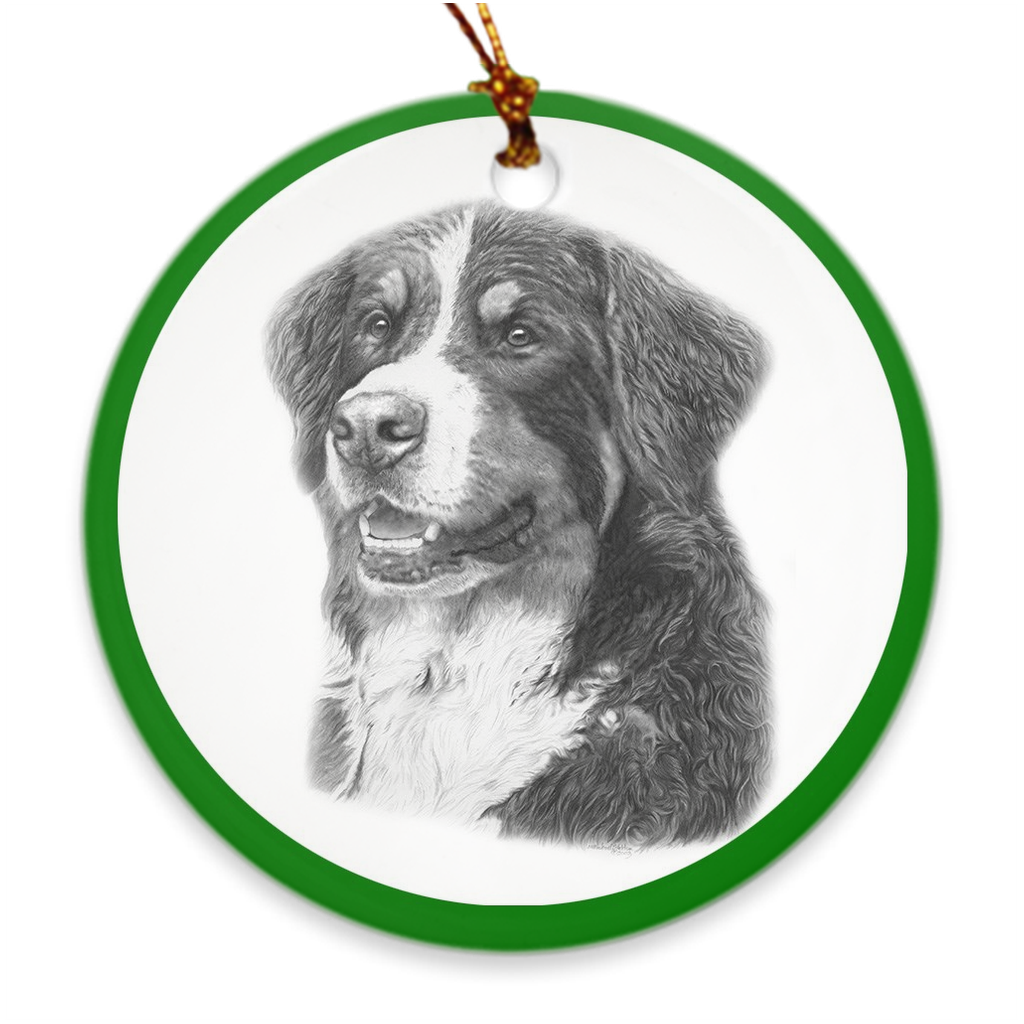 "Bernese Mountain Dog ""Pencil"" Christmas Ornament"