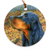 "Gordon Setter ""Northwoods"" Christmas Ornament"