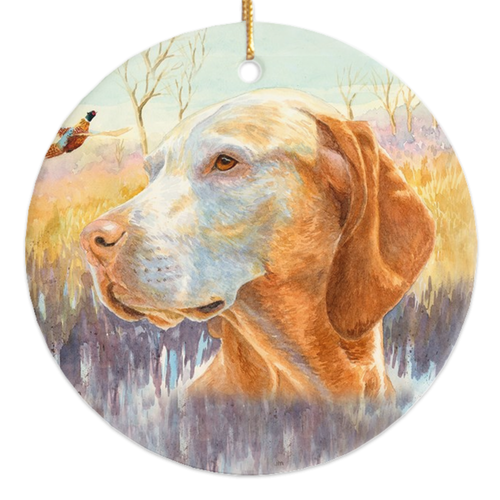 "Vizsla ""Wise One"" Ornament"
