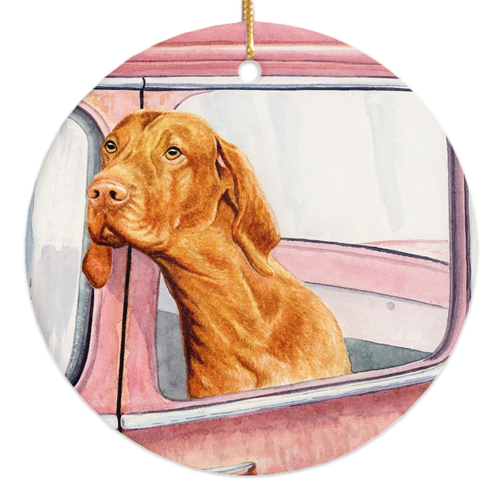 "Vizsla ""Don't Forget the Milk Bones"" Ornament"