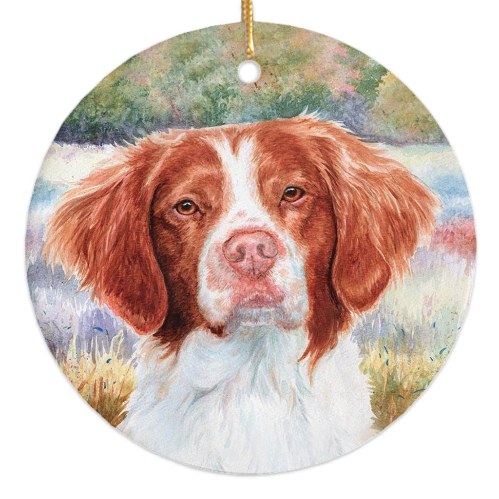 Brittany Head Study III Christmas Ornament