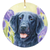 "Flat Coated Retriever ""Glory"" Christmas Ornament"