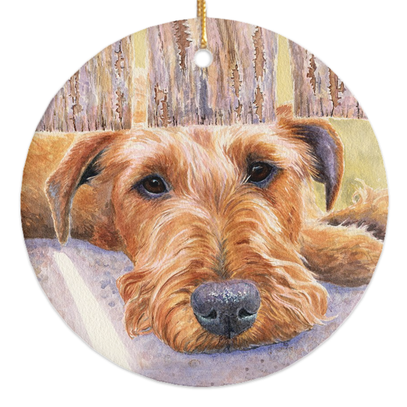 Irish Terrier Christmas Ornament