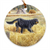 "Gordon Setter ""Gordon & Quail"" Christmas Ornament"